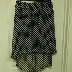 $9/OBO Forever 21 Polka Dot High/Low Skirt