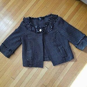 Cropped 3/4 Sleeve Tweed Jacket