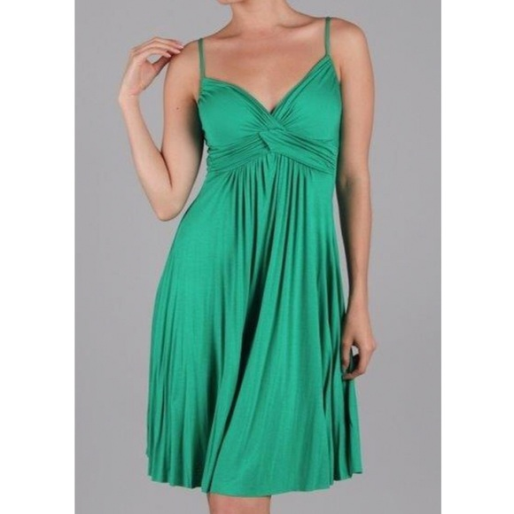 shades of official huge discount Dulce Carbona Dresses | Green Spaghetti Strap Dress | Poshmark