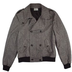 TSE Other - TSE Men's Gray Herringbone Wool & Cashmere Jacket