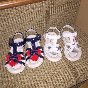 Morgan & Milo Other - Morgan & milo sandals 9 & 10 white and blue