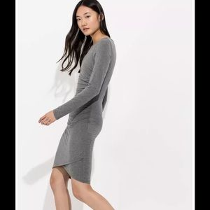 561162708 Kit and Ace Dresses - Kit And Ace Meadow Dress Midi Wine Cashmere