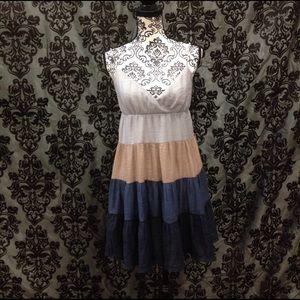 Blue Bird Dresses & Skirts - Blue Bird Ombre' Flared Crinkle Dress