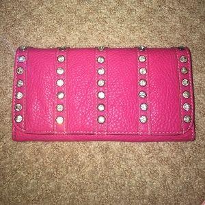 SAMOON Handbags - pink rhinestoned wallet