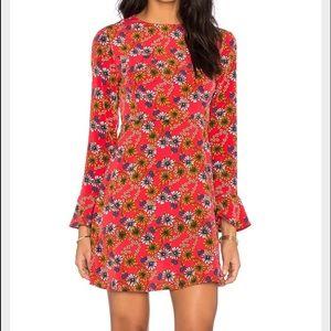 WAYF Floral Tie Back Dress