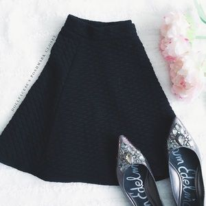 Wallflower Dresses & Skirts - Black Quilted Mini Skirt