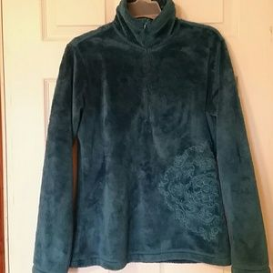 Ascend Tops - Ascend dark teal fleece pullover