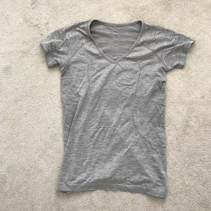 lululemon athletica Tops - Lululemon. Swiftly V Neck Short Sleeve. Gray.