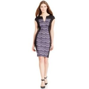 Connected Apparel Dresses & Skirts - SALE*Split Neck Contrast Panel Dress NWT $89 6
