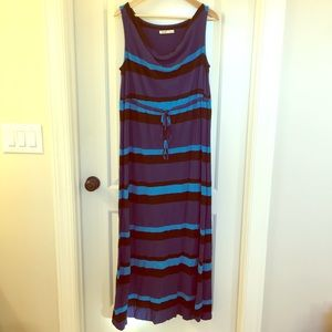 Old Navy Dresses & Skirts - Old Navy Plus Blue Stipe Maxi