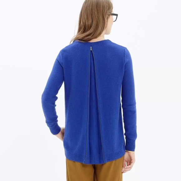 56% off Madewell Sweaters - Madewell Back Zip Pullover Sweater ...