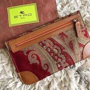 Etro Handbags - NWT ✨ ETRO Leather trim Paisley print pouch