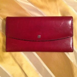 Bosca Handbags - Bosca Wallet Red Leather