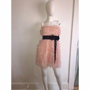 Homecoming BLUSH Ruffle Layer Dress Sz 7