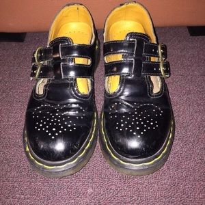 Black Doc Martens Mary Janes. Size 6.