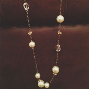 J.Crew Pearl & Crystal Chain Necklace