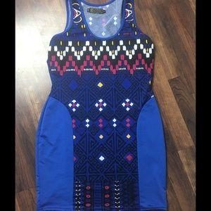 Royal Blue Coogi Bodycon Dress