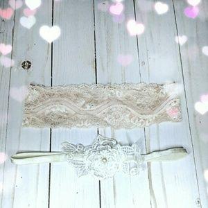 PLH Bows & Laces Other - EUC {PLH Bows & Laces} Lacey Headbands
