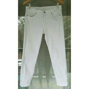 LOFT Denim - !! White skinny jeans with ankle zipper