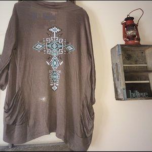 Zenana Outfitters Sweaters - Western Cardigan
