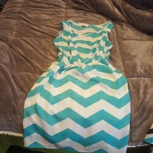 Krush Dresses & Skirts - Teal and white dress