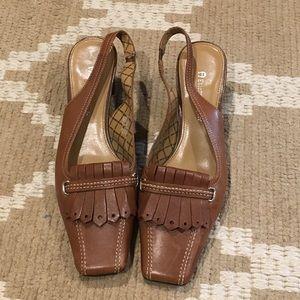 Etienne Aigner sling back heels. Women's Size 6.