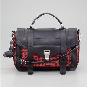 Proenza Schouler Handbags - Proenza Schouler PS1 bag red triangle print