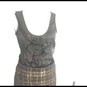 diane von furstenberg black silk shirt
