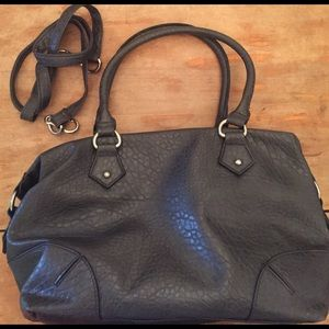 Grey faux leather bag from Target