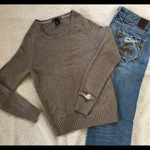 H&M gold sparkly sweater
