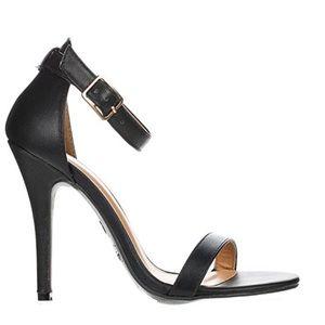 Ankle Strap Open Toe Heels Size 9