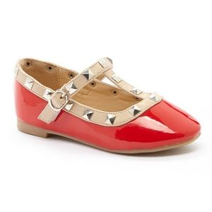 boutique Other - red studded Mary Janes
