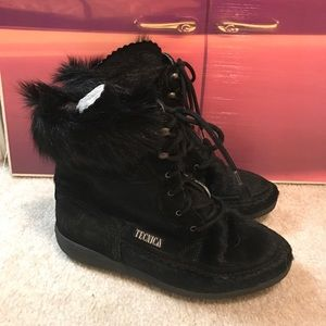 Tecnica Shoes - TECNICA Black Goat Fur SKI Boot Made in Italy