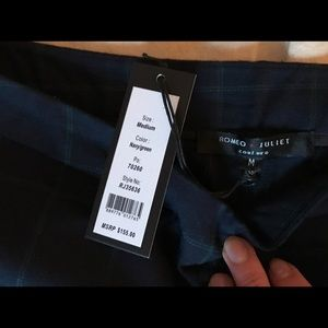 Wide Leg Plaid Trousers