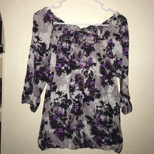 A.N.A. 3/4 sleeve top