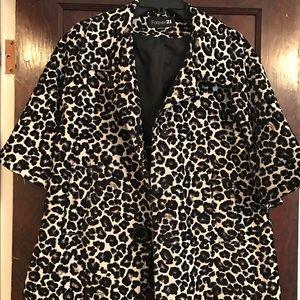 Leopard print coat!