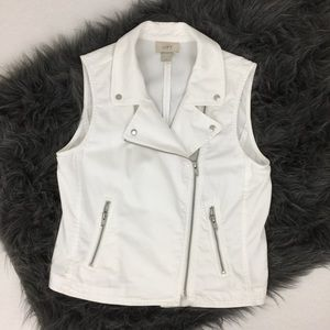LOFT Jackets & Blazers - LOFT >> White Moto Vest