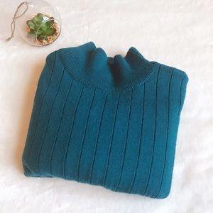 Liz Claiborne Mock Neck Merino Wool Blend Sweater