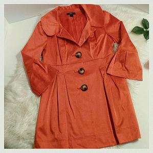 BCX Jackets & Blazers - Orange Satin jacket