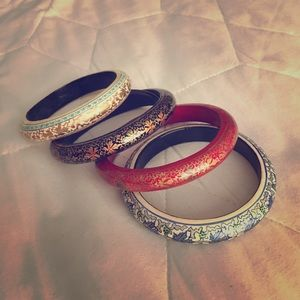 MOMA Jewelry - Set of 4 Painted Bangles