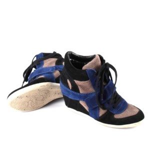 Limited Ash Shoes Blue Black Gray Suede