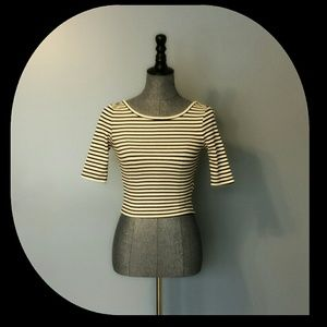 {Forever 21} Striped Crop Top with Low Scoop Back