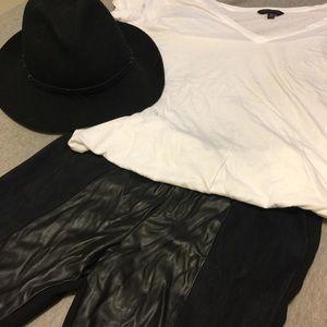 Zara 2tone faux leather leggings