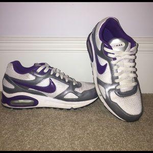 Nike Air Max Purple White and Silver SZ 9