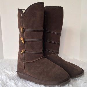 Emu Shoes - Emu Tall Brown Wool Boots