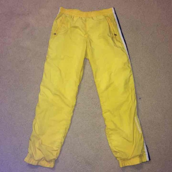 2376f52f197ee Abercrombie & Fitch Pants | Abercrombie Fitch Yellow Athletic | Poshmark