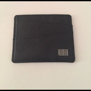 check out fc943 6fb31 Armani exchange textured leather card holder.