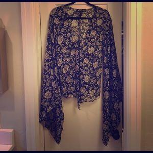 Winter Kate Tops - Winter Kate bell sleeve blouse