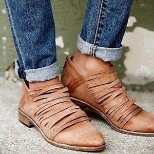 clmayfae Shoes - RESTOCKED Free Soul Caramel Booties