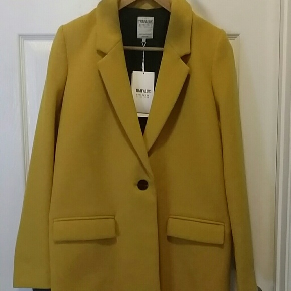 85727c2f Zara Jackets & Coats | New With Tag Wool Coat Mustard Color | Poshmark